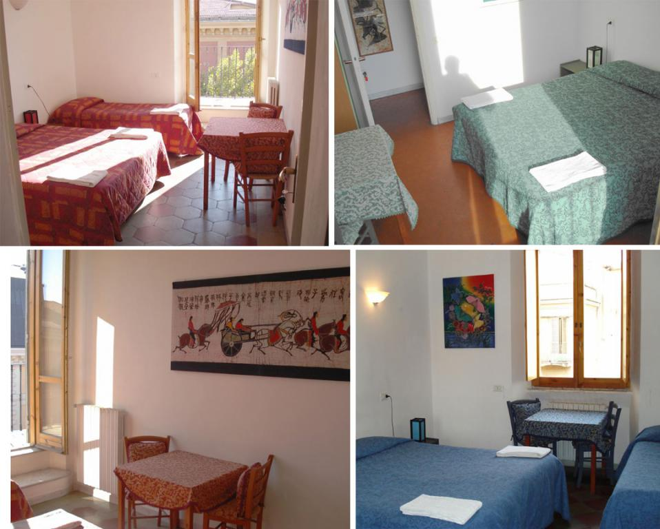 Les chambres du Bed and Breakfast Chaplin Hostel Rome